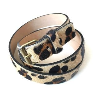 Streets Ahead Leopard Print Leather Belt